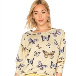 Wildfox Butterfly Sweater Small